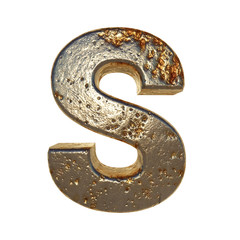 Rusted metal letter S