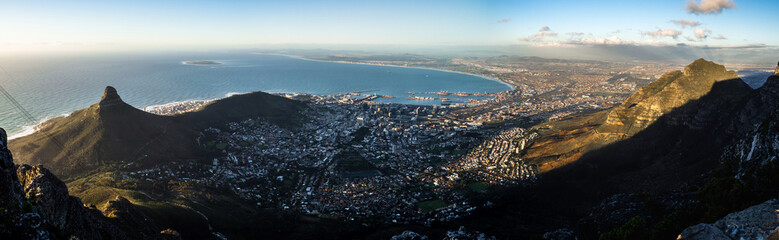 cape town panorama from table mountain top