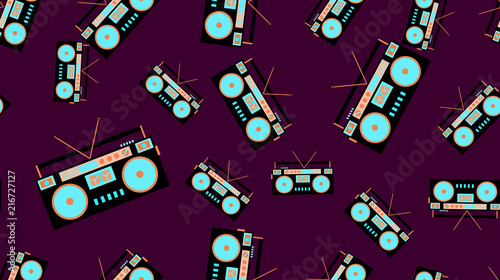 The texture is a seamless pattern from the retro music of