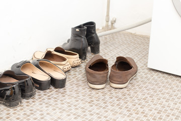 shoes in the corridor