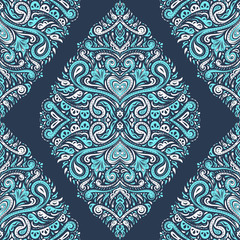 Ornamental seamless pattern. Vintage vector, paisley elements. Ornament. Traditional, Turkish, Indian motifs. Great for fabric and textile, wallpaper, packaging or any desired idea.