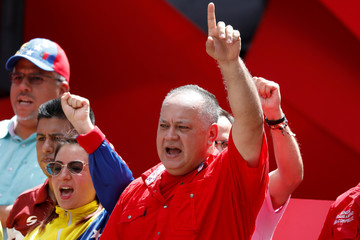 National Constituent Assembly President Diosdado Cabello attends a rally in support of Venezuela's President Nicolas Maduro in Caracas