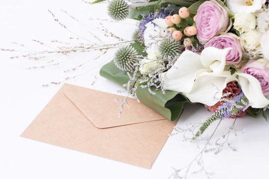 花束と手紙
