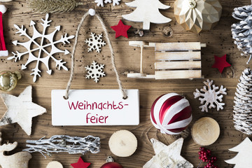 Rustic Flat Lay, Weihnachtsfeier Means Christmas Party