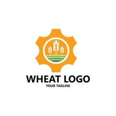 Agriculture wheat grain Logo Template vector icon design