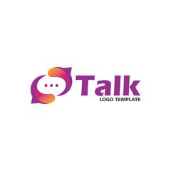 social talk logo design template