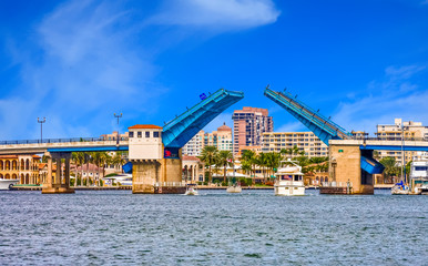 Fototapete - Intracoastal Drawbridge Open