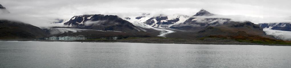 The glacial mountains of South Georgia Island