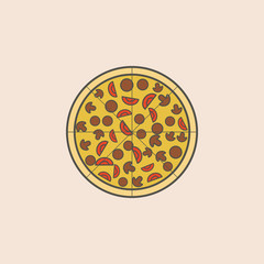 advertising pizza line icon. Element of fast food icon for mobile concept and web apps. Field outline advertising pizza line icon can be used for web and mobile