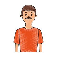 Man with mustache profile vector illustration graphic design