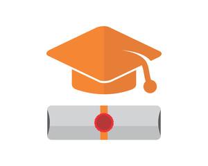 graduation charter academy scholar graduate university success image vector icon logo