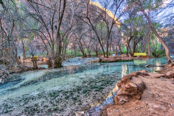 Breathtaking views all around Havasu Falls area in Arizona