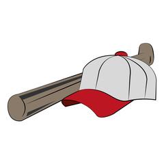 Baseball aht and bat vector illustration graphic design