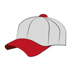 Baseball sport hat vector illustration graphic design
