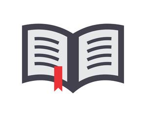 open book textbook dictionary encyclopedia read image vector icon logo