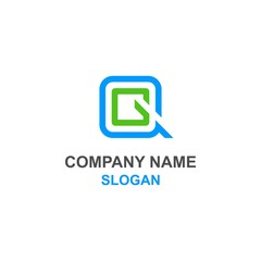 QG letter initial logo.