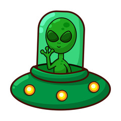 Alien in spaceship
