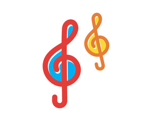 musical note melody key image vector icon logo