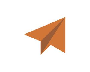 paper plane flight airways airline image vector icon logo