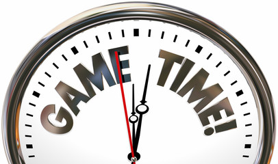 Game Time Play Have Fun Competition Clock 3d Illustration Wall mural