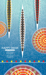 Onam Boat Festival Background. South India Kerala Festival.