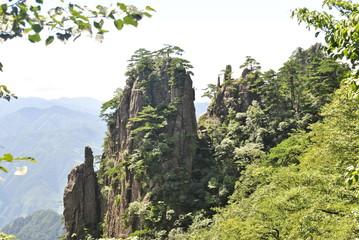 Fotobehang Zalm The Yellow Mountain in China