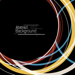 Abstract minimal geometric round circle shapes design background with copy space
