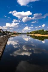 Magdeburg Elbblick Domfelsen Wolkenbilder