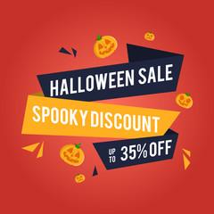 Halloween sale background with pumpkins