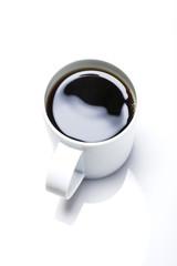 coffee mug cup with americana coffee isolated white.