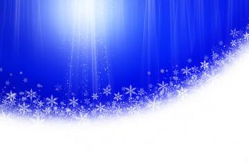 雪の結晶とブルーの背景