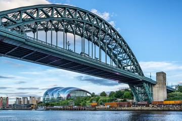 The Tyne River and Bridge in Newcastle Upon Tyne