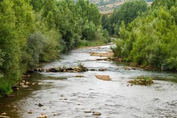 Río Bernesga. Carbajal de la Legua, León, España.