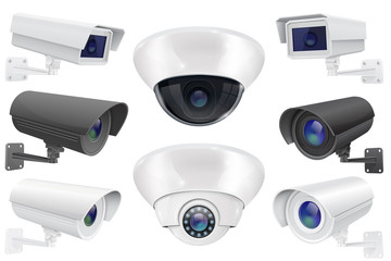 CCTV surveillance system. Collection of security camera
