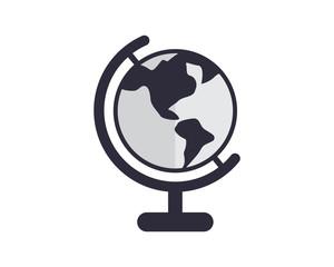 circle globe planet earth world image vector icon logo