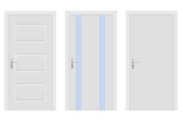 Interior doors. White set of designs
