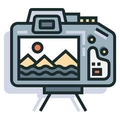 Photography Line Color Icon