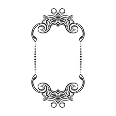ornament decorative vintage frame design
