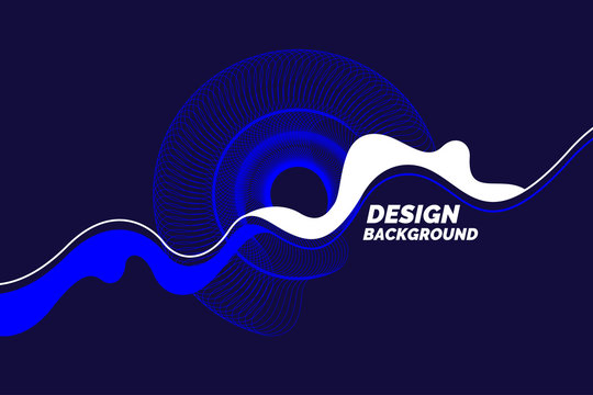 Organic forms with dynamic waves and lines on a dark background.