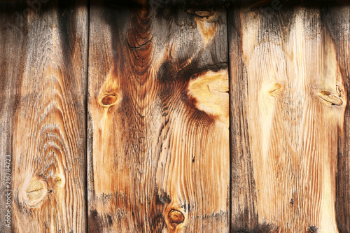 Wooden background, burned. Picnic table. \