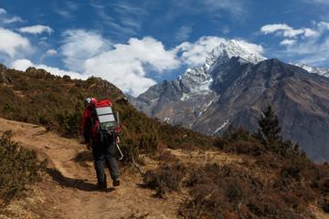 Nepal. On the way to Mount Everest. Namche Bazar. Trekking.