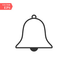 Bell line icon, Vector on white background