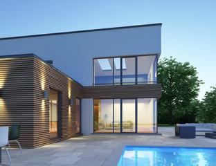 Haus mit Pultdach P3