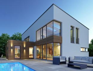 Haus mit Pultdach P2