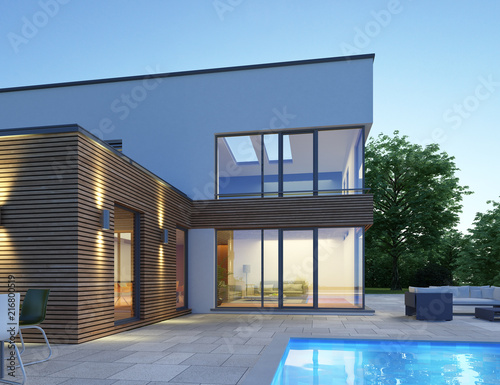 Haus Mit Pultdach P3 Stock Photo And Royalty Free Images On Fotolia