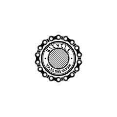 Bike badge vector. Bike logo. Sales and repair