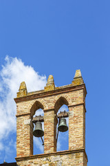Old Belfry against a blue sky
