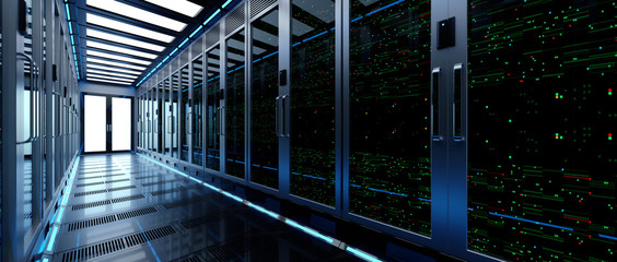 Backup cloud data service center. 3D rendering