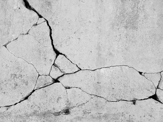 Deurstickers Historisch geb. crack concrete wall background