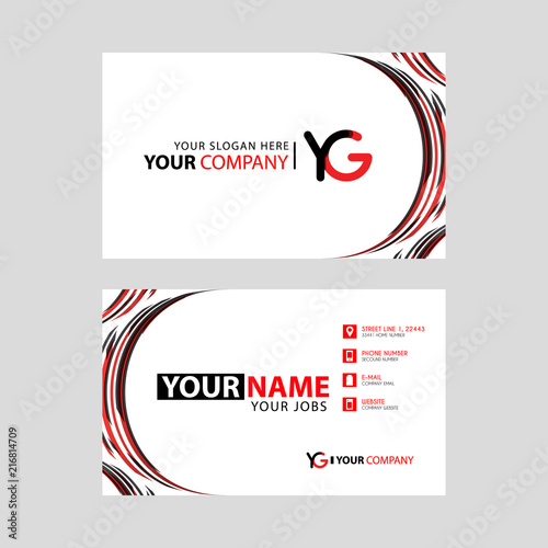 Letter Yg Logo In Black Which Is Included In A Name Card Or Simple